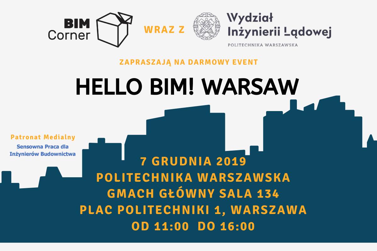 BIM Corner na Politechnice Warszawskiej - Hello BIM! Warsaw