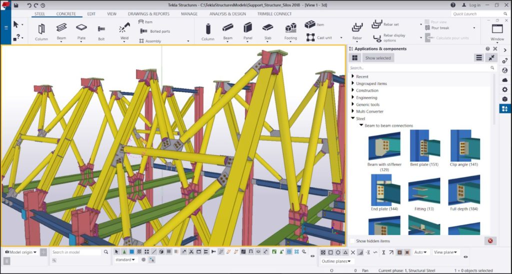 Tekla Structures Interfejs