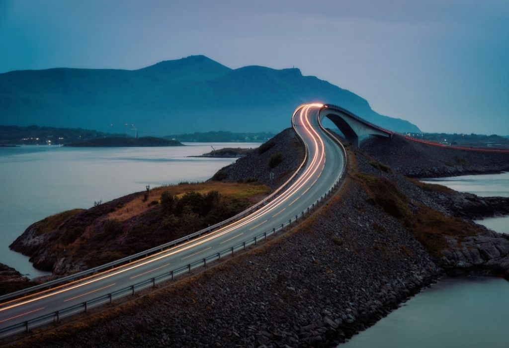Norwegian road on the Atlantic coast