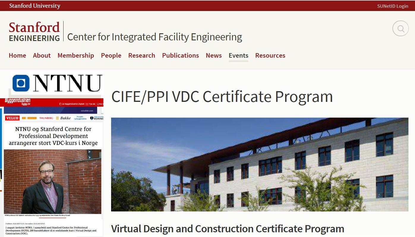 VDC course with certificate on NTNU