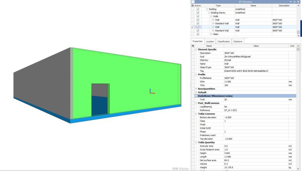 Model ifc, ifcwall property