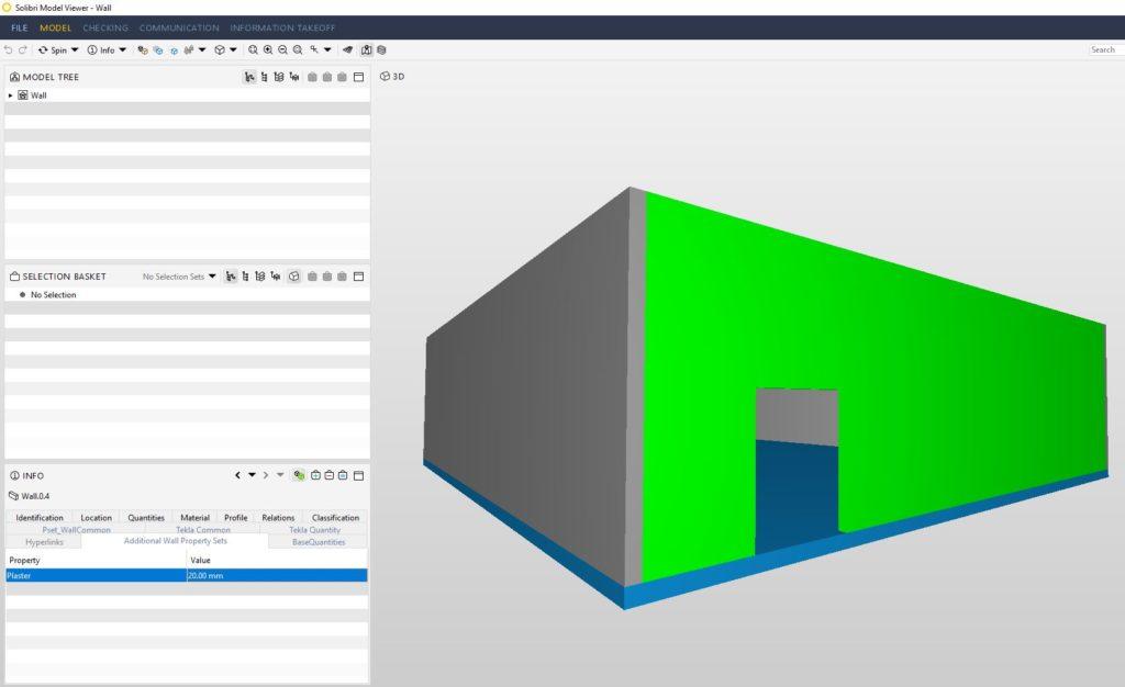 ifc model properties, ifcwall properties solibri