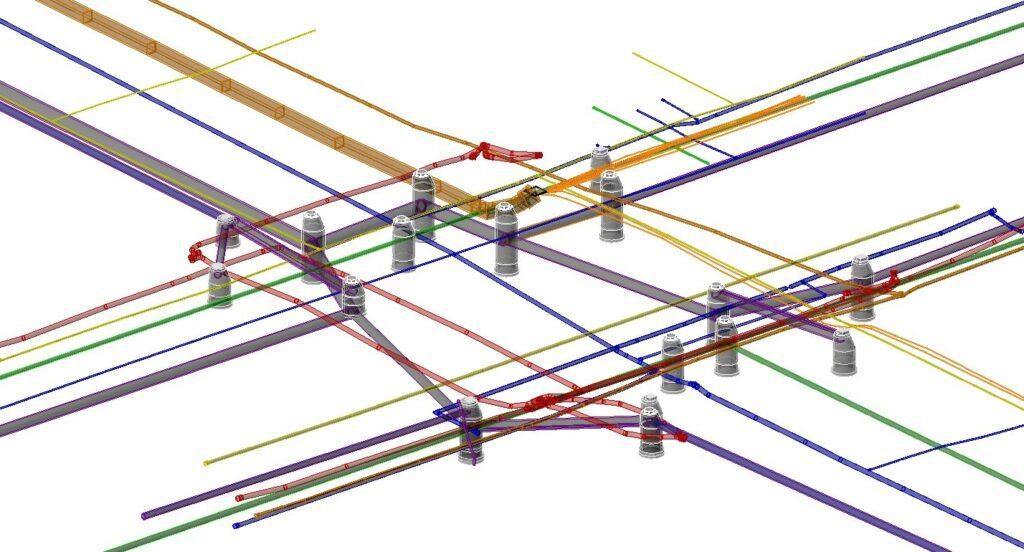 Underground utilities network