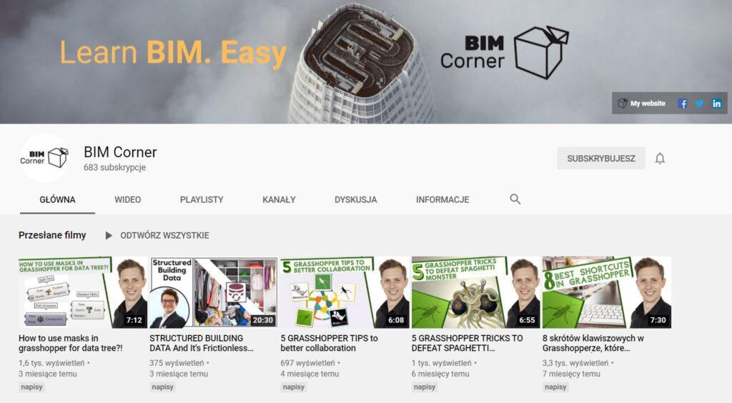 BIM Corner YouTube