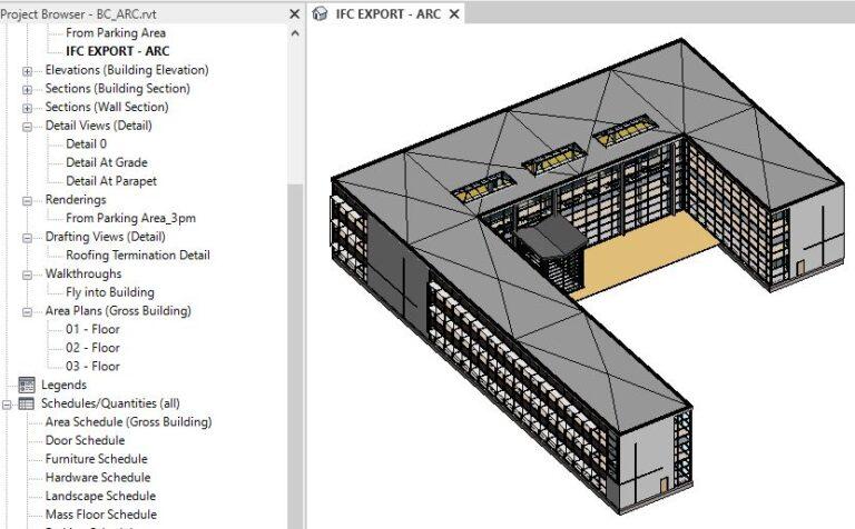 IFC Export 3D view