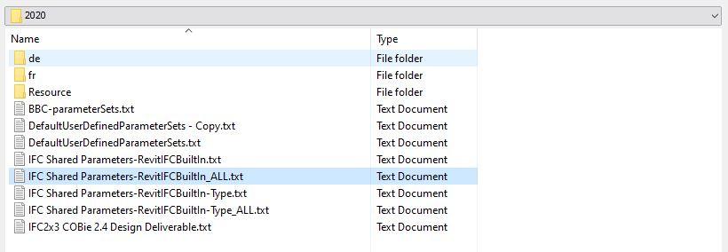 IFC shared parameter - file
